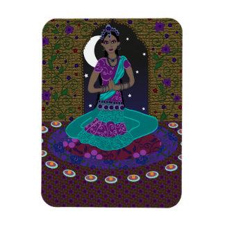 Indisk klassisk dansare magnet