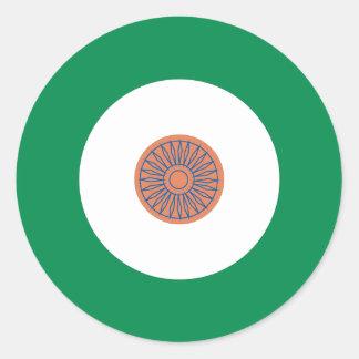 Indisk modrundaklistermärke runt klistermärke