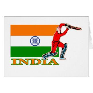 Indisk syrsaspelare hälsningskort