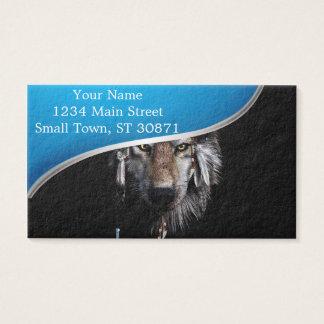 Indisk varg - grå varg visitkort