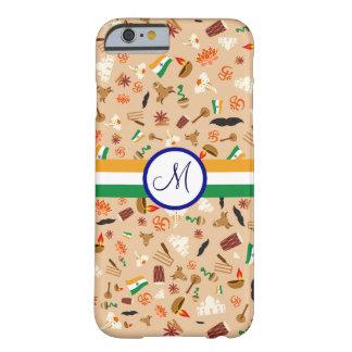 Indiska kulturella objekt med flagga och barely there iPhone 6 skal