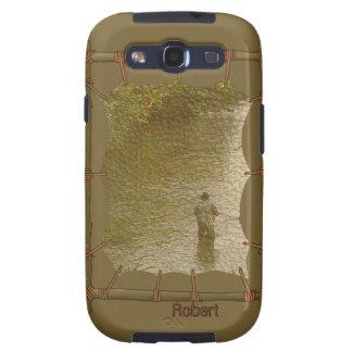 Indiskt infött Samsung för kanfasfotoram fodral Galaxy SIII Cover