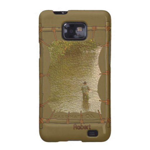 Indiskt infött Samsung för kanfasfotoram fodral Galaxy S2 Fodral