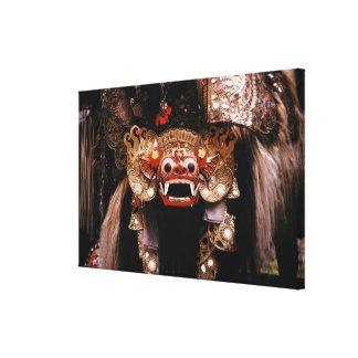 Indonesen maskerar canvastryck