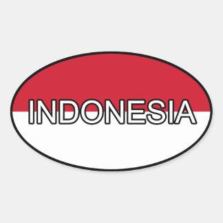 Indonesien Euroklistermärke Ovalt Klistermärke