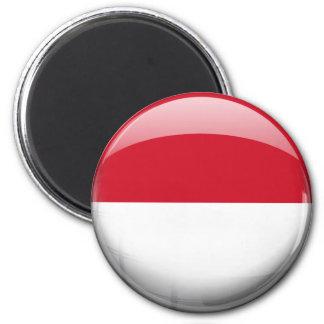 Indonesien flagga magnet