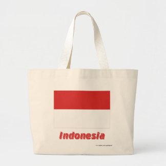 Indonesien flagga med namn tygkasse