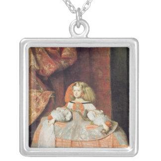 Infantaen Maria Marguerita i rosor Silverpläterat Halsband