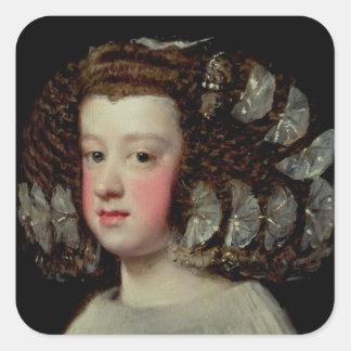 Infantaen Maria Theresa Fyrkantigt Klistermärke