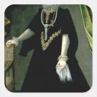InfantaIsabella Clara Eugenia Fyrkantigt Klistermärke
