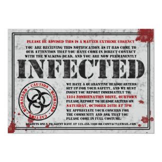 Infekterat märka Zombiehalloween festinbjudningar 12,7 X 17,8 Cm Inbjudningskort