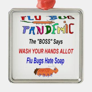 Influensakryp hatar tvål julgransprydnad metall