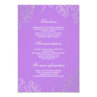 Information om vintage bröllop för silver 8,9 x 12,7 cm inbjudningskort