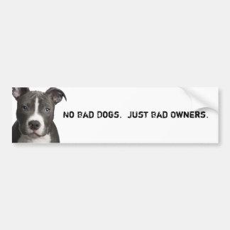 Inga dåligahundar. Bjöd precis ägare Bildekal