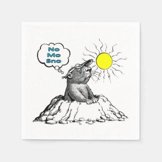 Inga för dagparty för Mo Sno Groundhog servetter
