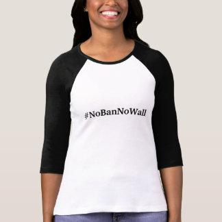 Inga förbud inga väggkvinna Jersey för baseball T-shirts