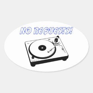 Inga förfrågan! ovalt klistermärke