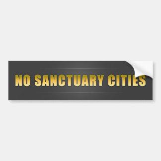 Inga fristadstäder bildekal