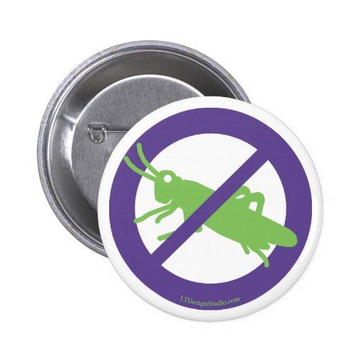 Inga gräshoppor - knäppas knappar med nål