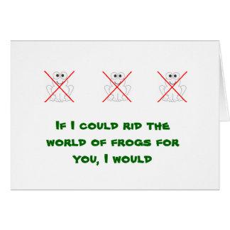 inga grodor hälsningskort
