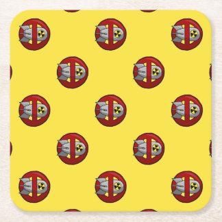 Inga kärnvapen underlägg papper kvadrat