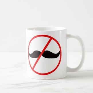 Inga mer mustascher kaffe koppar