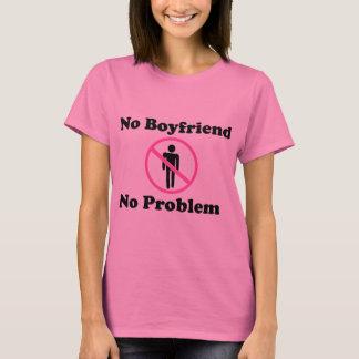 Inga problemkvinna grundläggande T-tröja Tee Shirt