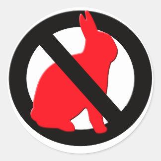 Inga tillåtna kaniner runt klistermärke