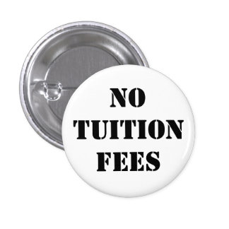 Inga tuitionavgifter - förse med märke/knäppas mini knapp rund 3.2 cm