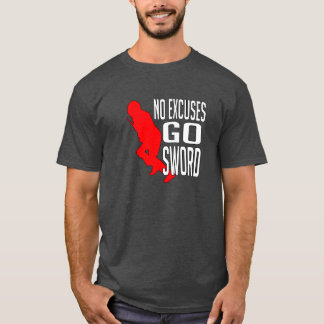 Inga ursäkter - går T-tröja för svärd HEMA T Shirts