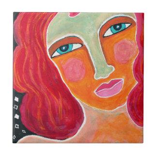 Ingefära-Abstrakt målar konst belägger med tegel Kakelplatta