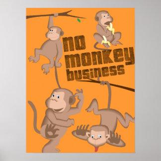 Ingen affisch för ungar för apaaffär | poster