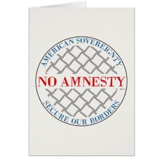 Ingen amnesti hälsningskort