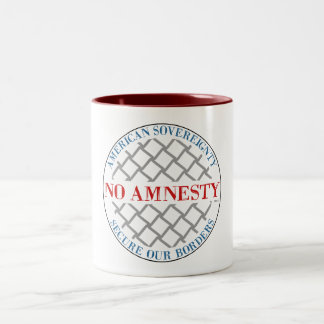 Ingen amnesti Två-Tonad mugg