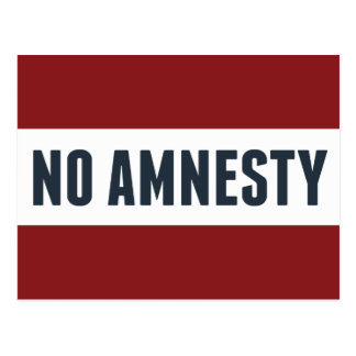 Ingen amnesti vykort