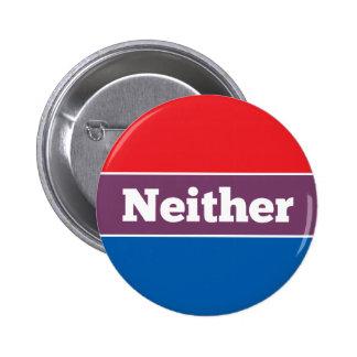 Ingen av politisk kandidat standard knapp rund 5.7 cm