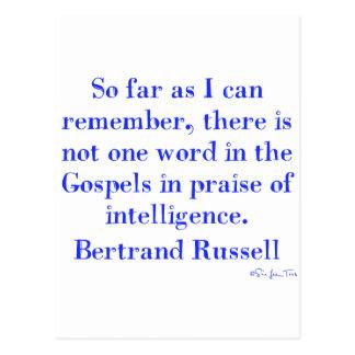 Ingen beröm av intelligens i gospelen vykort