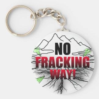 Ingen Fracking nyckelring
