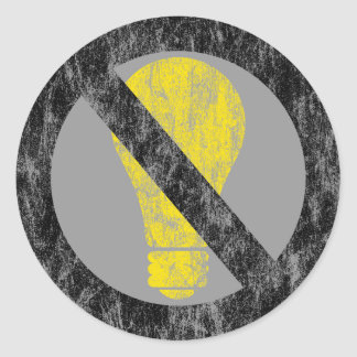 ingen glödande lökar runt klistermärke