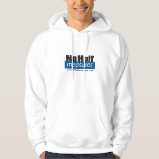Ingen halva mäter hoodien sweatshirt med luva