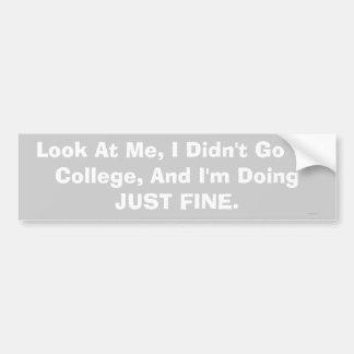 ingen högskolabildekal bildekal