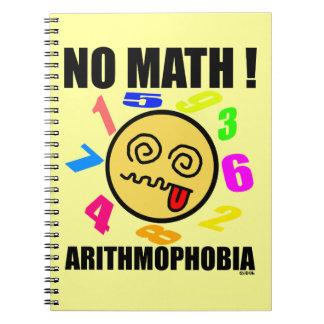 Ingen math! Arithmophobia Anteckningsbok Med Spiral