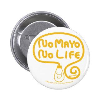 Ingen Mayo inget liv Standard Knapp Rund 5.7 Cm