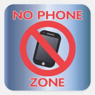 Ingen mobil zon fyrkantigt klistermärke