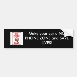 INGEN MOBIL ZON, gör din bil en INGEN TELEFON ATT  Bildekal
