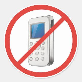 Ingen mobil zon runt klistermärke