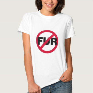 Ingen pälsskjorta tee shirt
