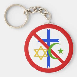 Ingen religion rund nyckelring