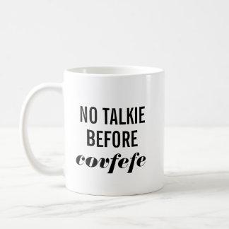 Ingen Talkie för Covfefe Kaffemugg