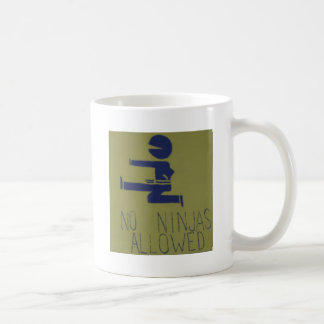Ingen tillåtna Ninjas Kaffemugg